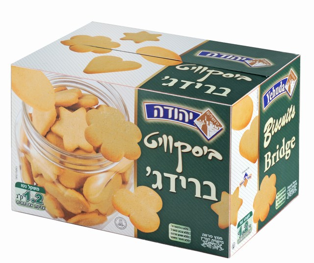 Bridge Biscuits. Under the supervision of the Jerusalem Chief Rabbinate and the Orthodox Jerusalem Community Badatz.